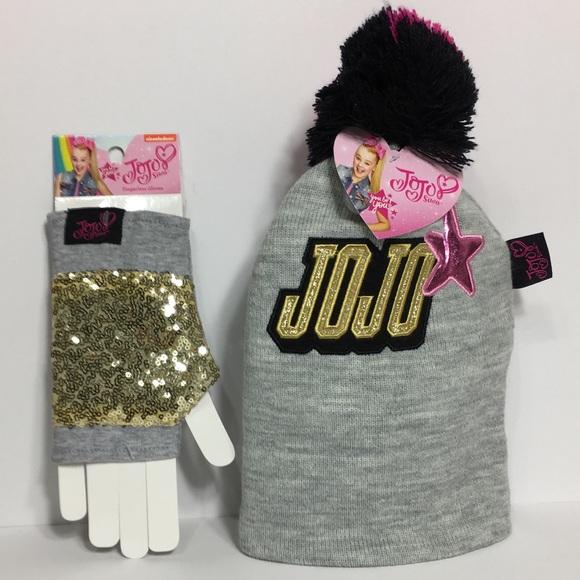 JOJO SIWA Beanie Hat and Fingerless Gloves c7e6ae2e1c37